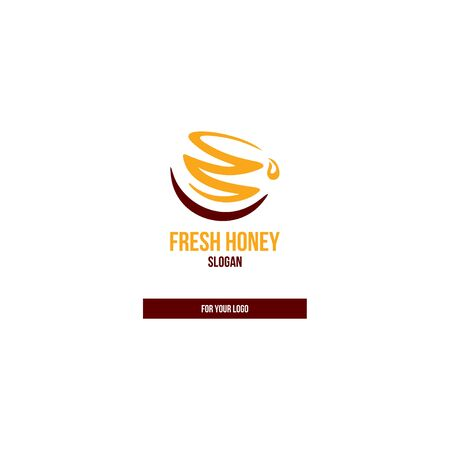 Honey jar icon, drop in the style of brush strokes. Çizim