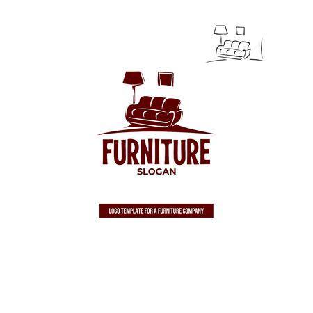 Furniture. Sofa, floor lamp, picture. Ilustração