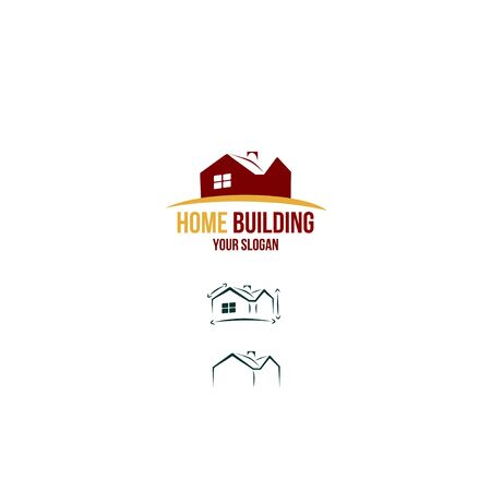 Home icon, arrows around the house. Иллюстрация