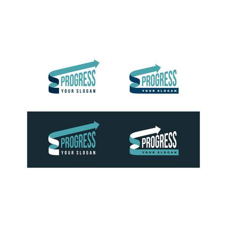Progress logo with arrow for financial company.