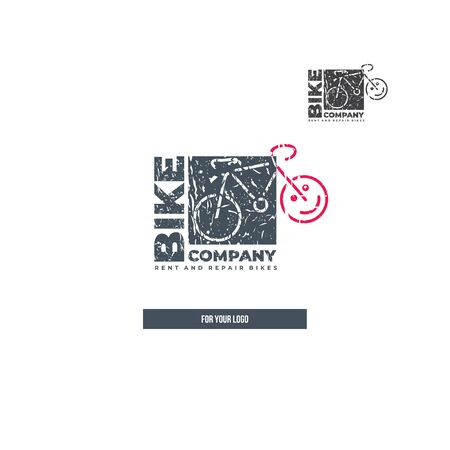 Square bike icon for logo. Çizim