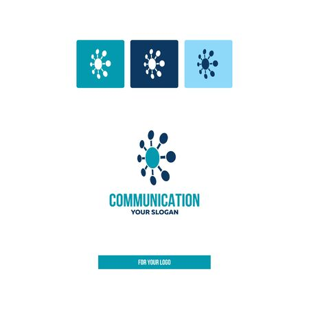 Communication icon, data center for logo.