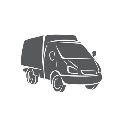 Gazelle car icon in brush strokes style. Ilustração