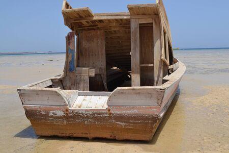 Old boat on the coast_2 Banco de Imagens