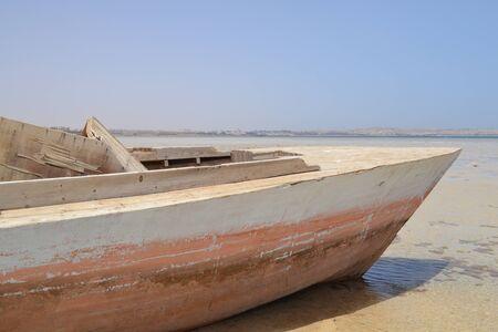 Old boat on the coast_3. Banco de Imagens