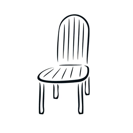 Chair in the style of brush strokes.