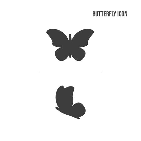 Butterfly icon in two angles.