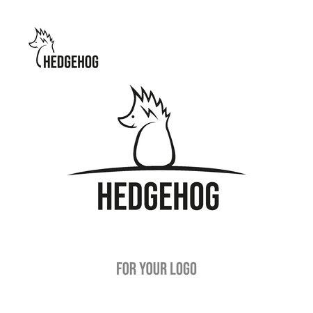 Hedgehog with thorns on the head. Icon for logo. Illusztráció