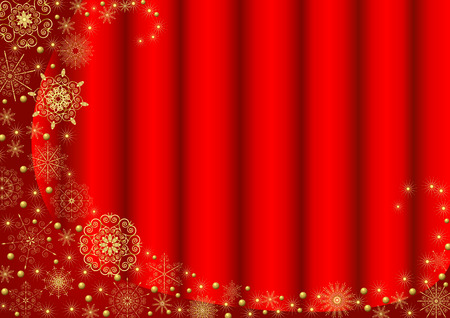 Claret frame with gold stars and a scarlet background Illustration