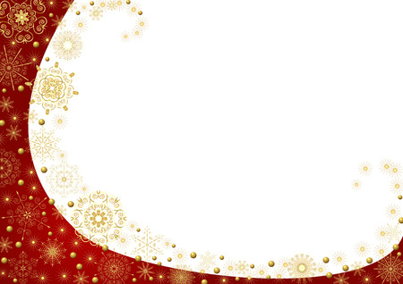 claret: Claret frame with gold stars and a white background