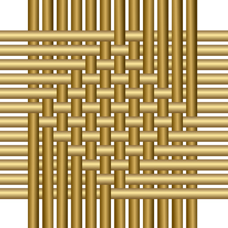 Seamless structure - wickerwork on a white background Vector