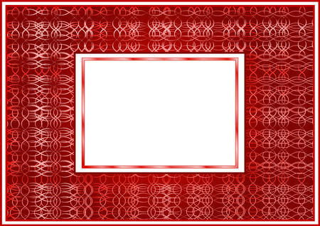 The stylized claret frame with a white background Vector