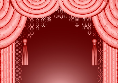 The beautiful pink curtain with claret background