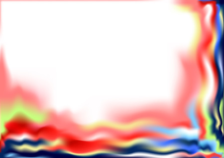 Colorful Soft Waves on a White Background  Vector