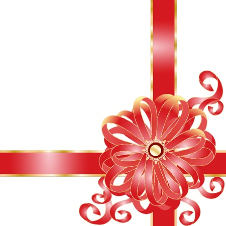 Holiday frame with pink bow and ribbons