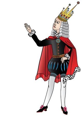 edicto: La figura aislada del rey, que cuesta, y dice que la orden Vectores