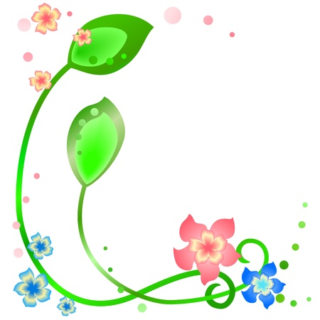 Spring frame on a white background Stock Vector - 10896586