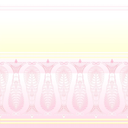 admirable: Admirable pink background with beautiful pattern. Vector Illustration
