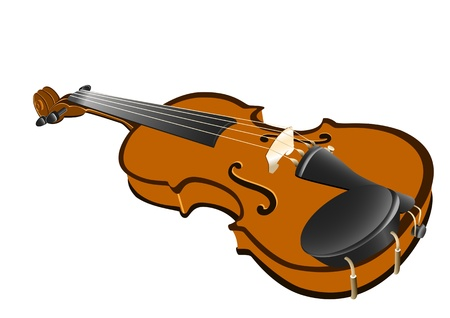 Vector illustration of a musical instrument, a violin Vector