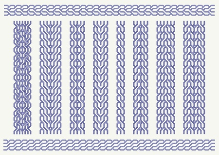 plait: Vector set of celtic pattern. Decorative border ornaments Illustration