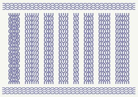 Vector set of celtic pattern. Decorative border ornaments Vector
