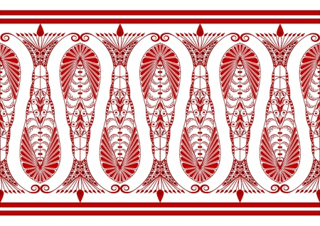 Admirable Claret Pattern on a White Background Vector