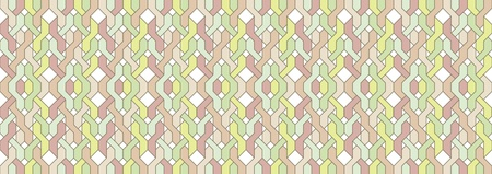 Pattern of braided horizontal  in vintage colors Illustration