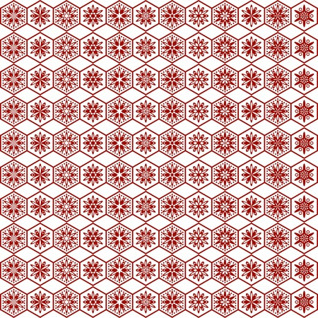 christmas motive: An openwork pattern of ethnic style_seamless Illustration