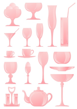 cookware: A collection of icons of different types of cookware Illustration