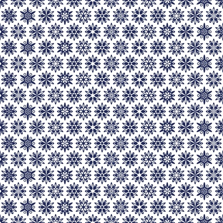 An openwork blue pattern of ethnic style Vector