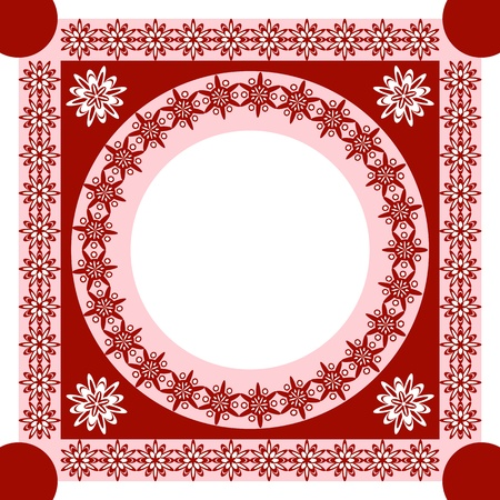 christmas motive: An openwork pattern of ethnic style. frame