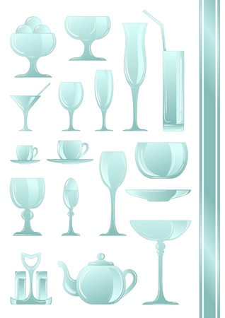A collection of icons of different types of cookware Stock Vector - 13170700