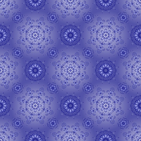 admirable: Admirable square blue pattern on a blue background Illustration