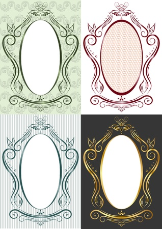 trapezoid: The vertical frame in antique style. Trapezoid Illustration