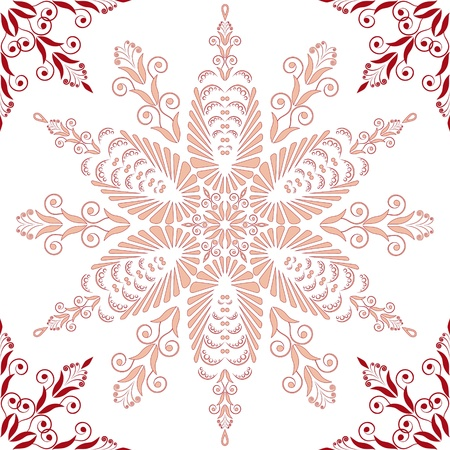 Admirable square pink pattern on a white background Stock Vector - 14272921