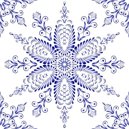 Admirable square blue pattern on a white background Stock Vector - 15933710