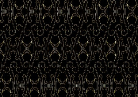 Gold easterly pattern on a black background