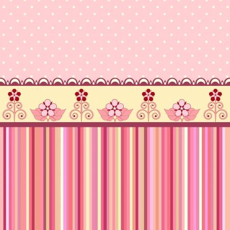 Vintage romantic background  Pink colors  Valentine day