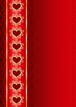 Valentine vertical background with a ribbon Vector