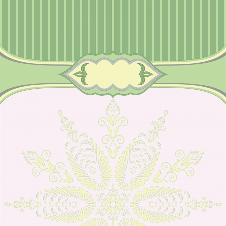 Green background with pattern and lines