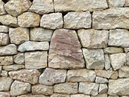 reddisch, trapezoidal stone in the center Stock Photo