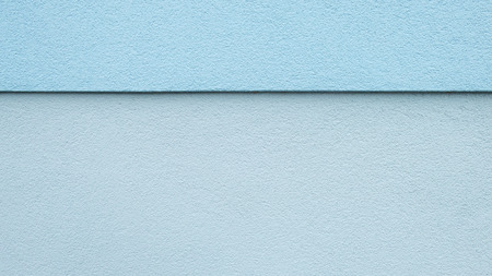 two and two thirds: Upper third blue lower two-thirds light blue, horizontally divided wall