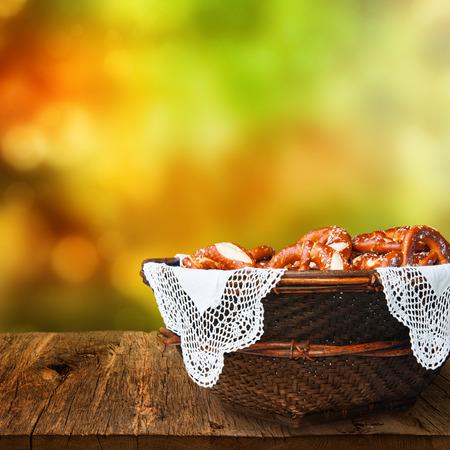 breadbasket: Fresh Bavarian pretzels, served in a basket