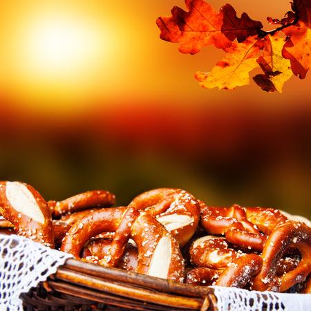 biergarten: Fresh Bavarian pretzels, served in a basket