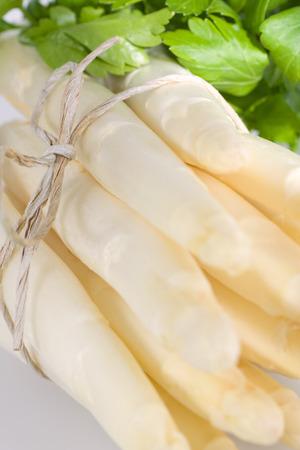 nahaufnahme: A bunch of fresh white asparagus Stock Photo