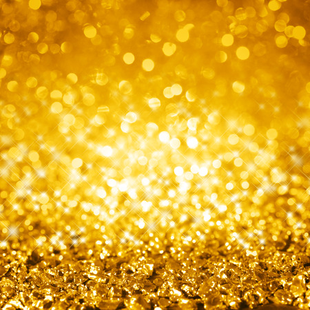 glimmer: Background with gold glimmer close-up