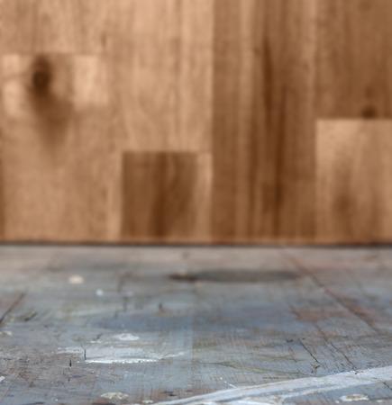 holz: Old grunge interior, wooden background