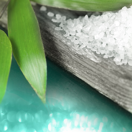 spa objects: Sea salt and other spa objects