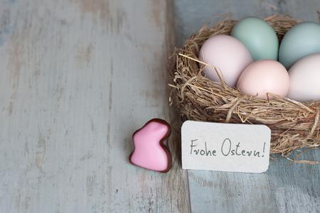 abundance: Abundance of colorful easter eggs in Nest Stock Photo