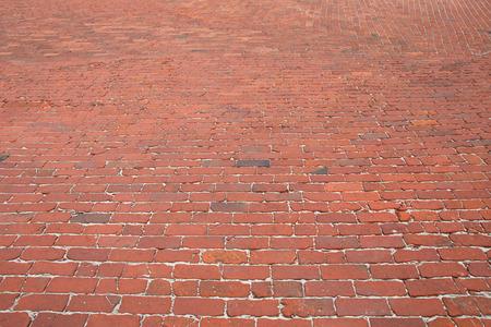clinker tile: Street with old cobblestones